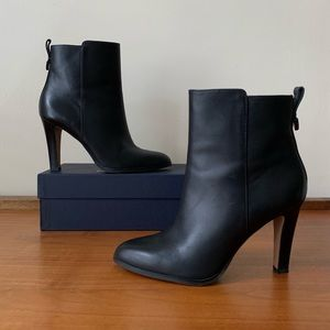 Coach Jemma Black Leather Ankle Boots Booties 8.5
